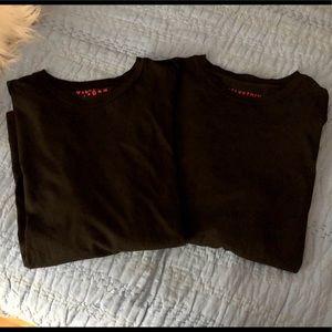 Lot of 2 Velvetmen L/S Black T-shirts, sz L